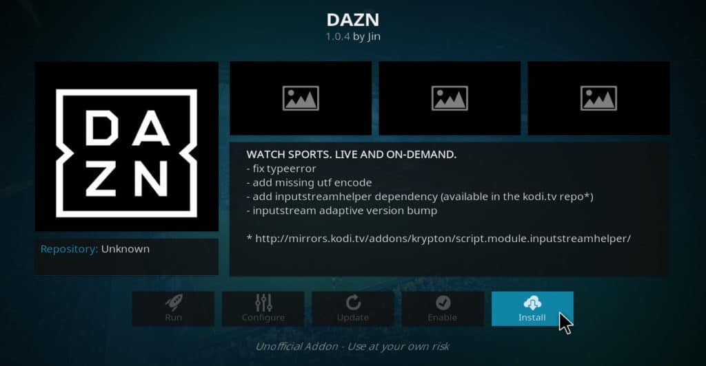 Install DAZN