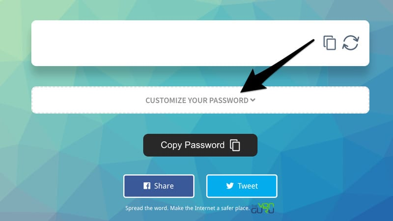Customize Your password
