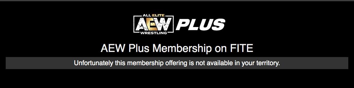 AEW Plus Error