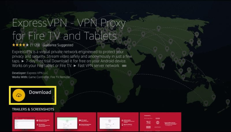 Click on Download ExpressVPN