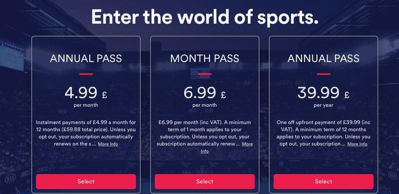 EuroSport Player Subscription