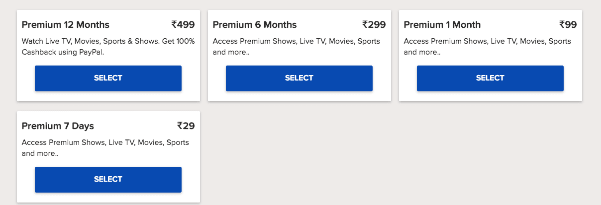 Sony Liv Subscription