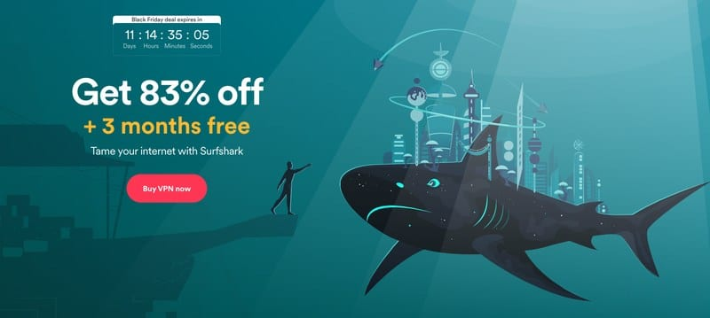 SurfShark Black Friday 2020