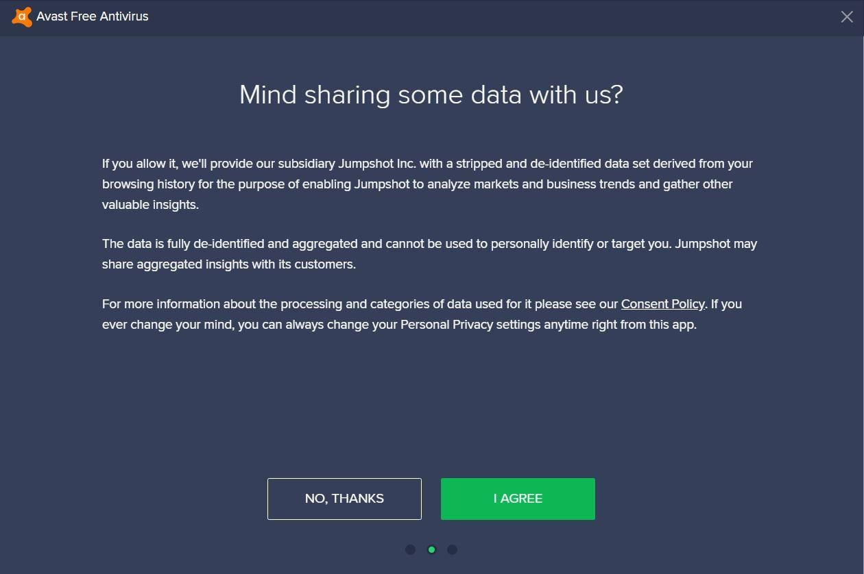 Avast Data Sharing