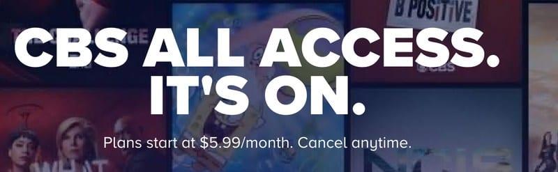 CBS All Access Price
