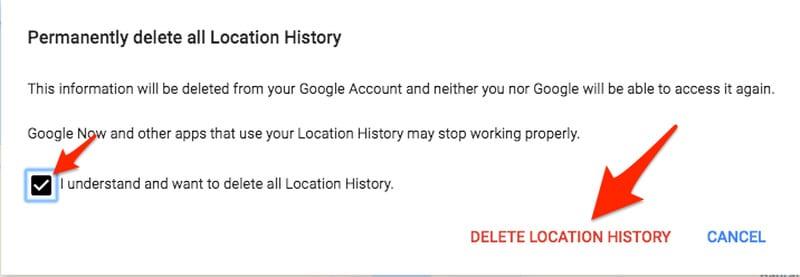 Google's Sensorvault - Confirm Delete
