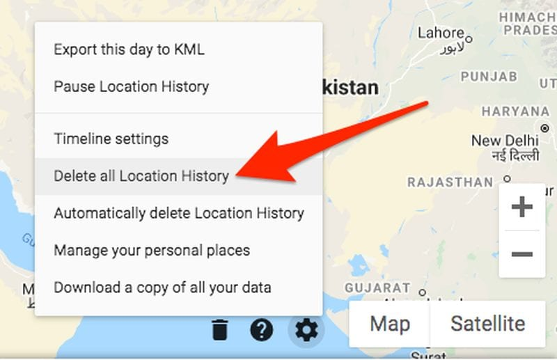 Google's Sensorvault - Delete Location History