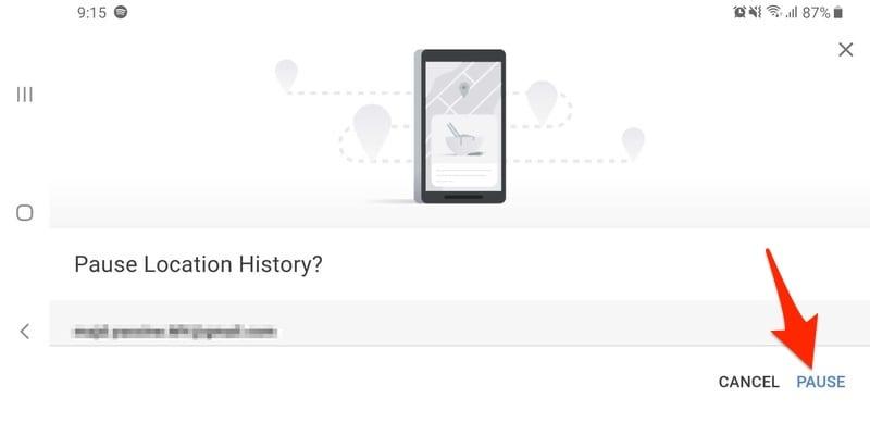 Pause Location History