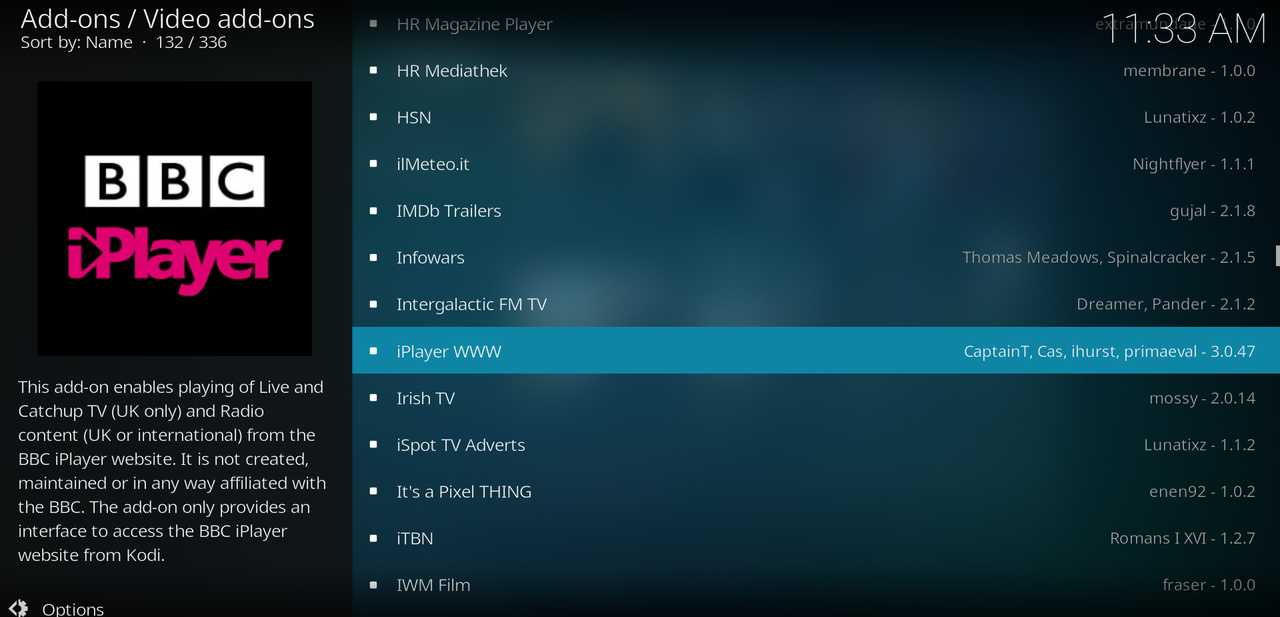 BBC iPlayer Add-on