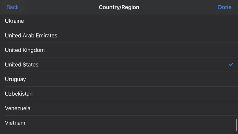Choose Your Region