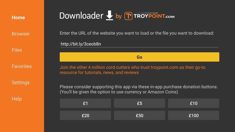Downloader Link on Fire Stick