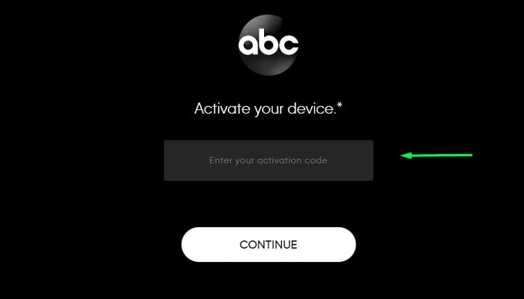Oscars 2020 - Enter your Activation Code ABC