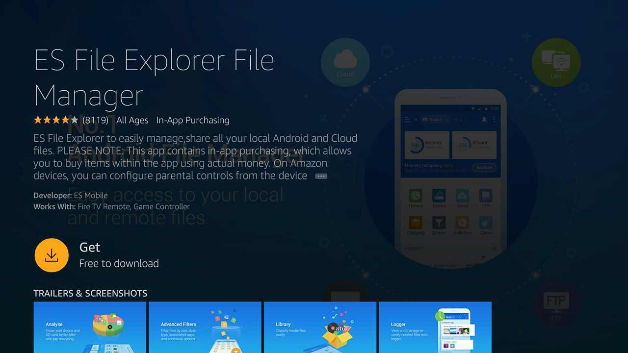 Get ES File Explorer