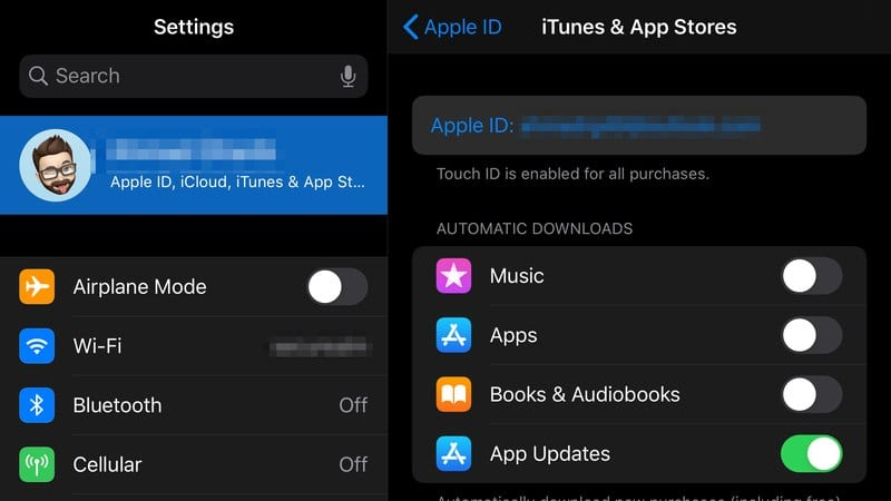 iOS Settings