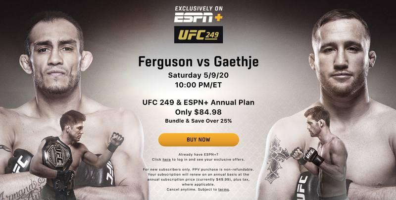 UFC 249 ESPN+