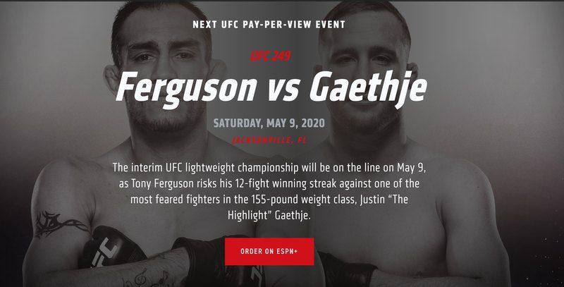 UFC 249 Fight Pass