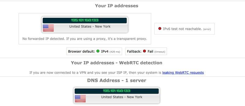 DNS Leak US Server