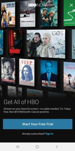 HBO NOW Trial