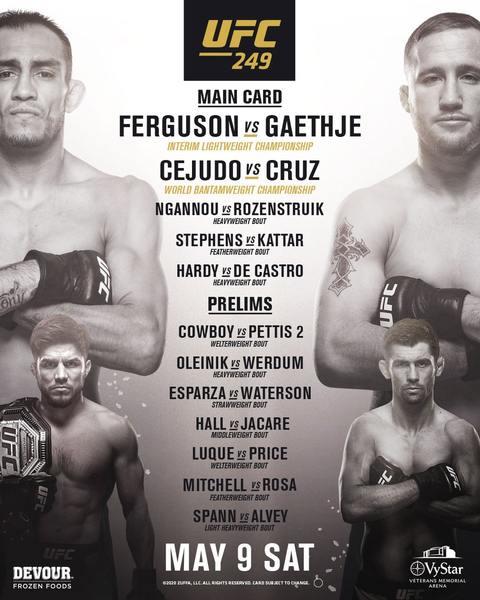 UFC 249 Fight Card