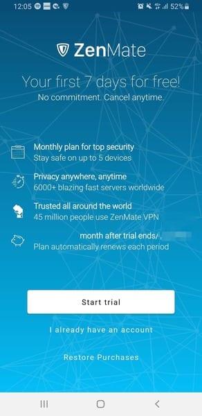 ZenMate Free Trial