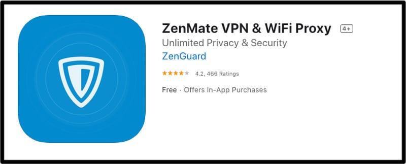 Zenmate iOS
