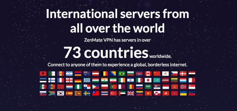 Zenmate's Servers