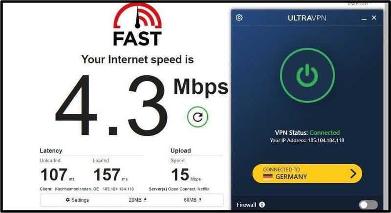 German Server UltraVPN
