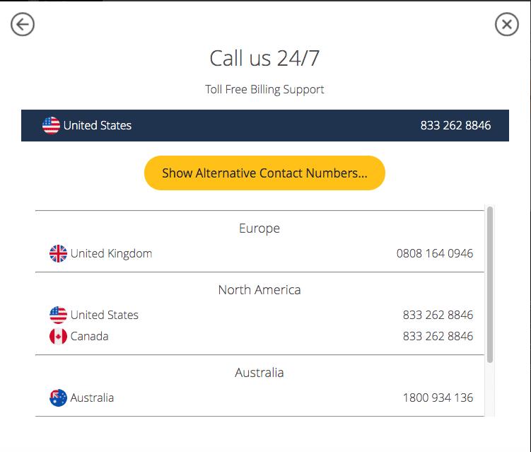 UltraVPN Call Support
