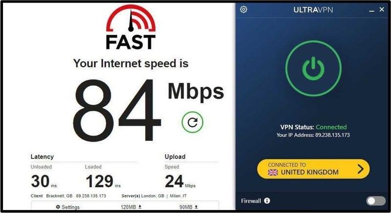 UltraVPN UK Server
