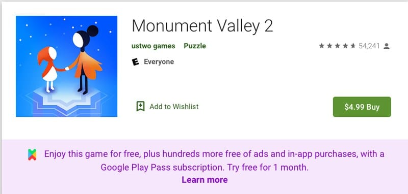Monument Valley 2 App Store