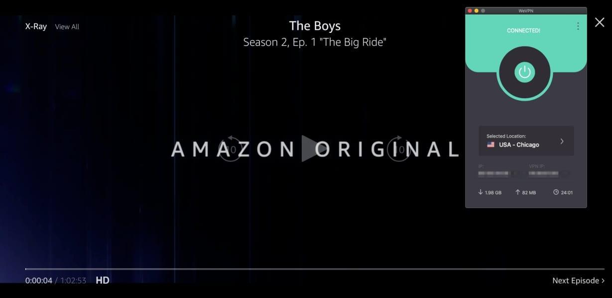 WeVPN Amazon Prime Video