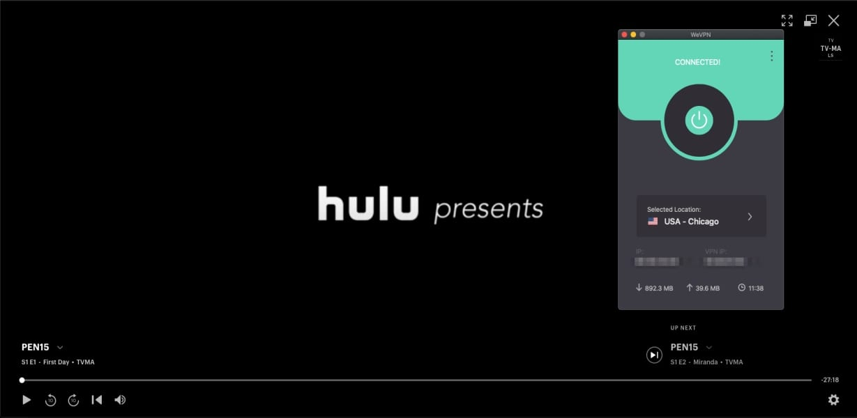 WeVPN Hulu