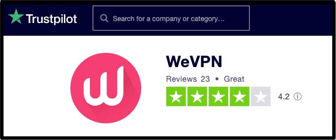 WeVPN Trustpilot