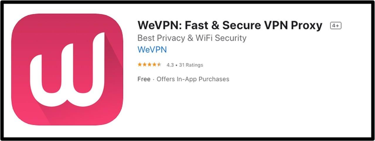 WeVPN iOS