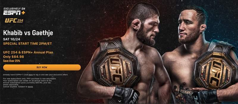 New UFC 254 Subscribers
