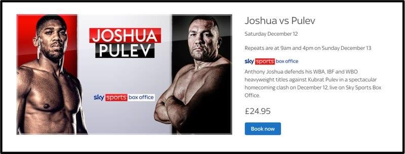 Joshua vs. Pulev Sky