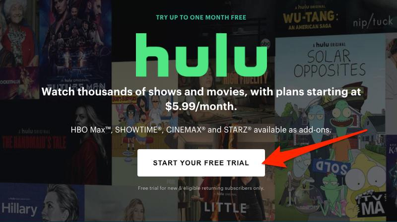 Start Hulu Free Trial
