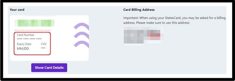 StatesCard Information