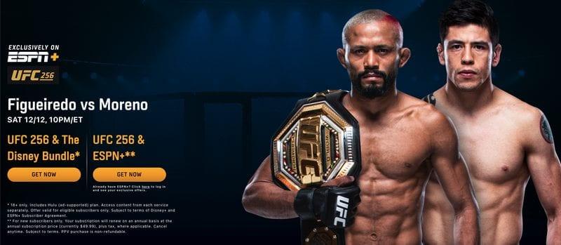 UFC 256 ESPN+