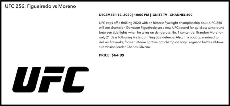 UFC 256 Rogers