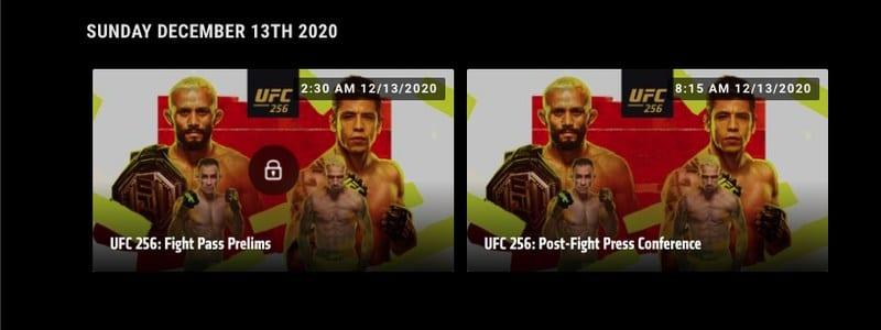 UFC 256 USA