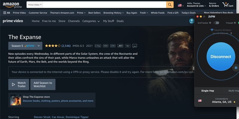 Amazon Prime IVPN
