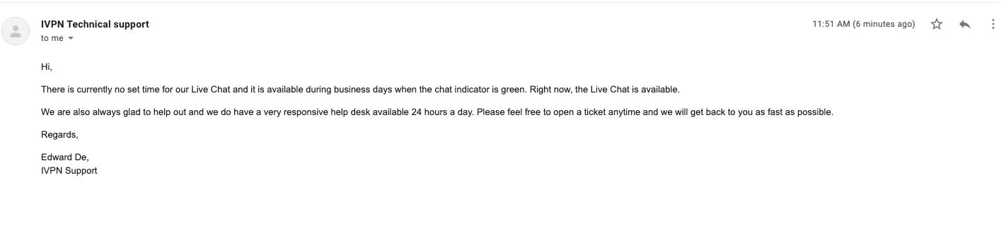 IVPN Email