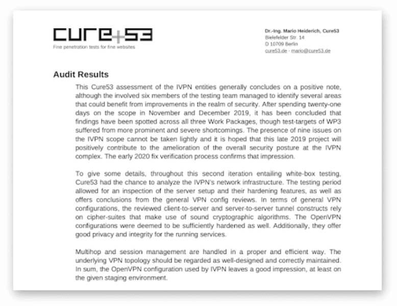 IVPN Security Audit